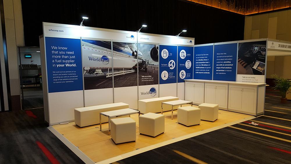 Corner Exhibition Stands Parking : Image gallery pyramid displays